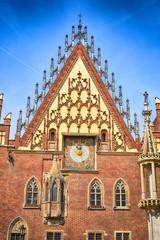 Breslau Wroclaw Poland City Hall Detail