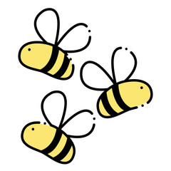 color cute bees insect animal flying