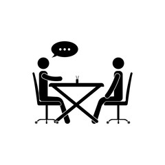 business communication at the table icon. Сommunication element icon. Premium quality graphic design. Signs and symbols collection icon for websites, web design, mobile app