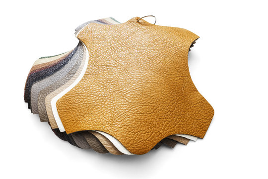 Samples of artificial leather