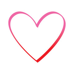 love heart romance passion feeling vector illustration degrade red line image