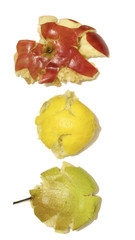 crushed fruit: lemon, apple, pear in bad condition
