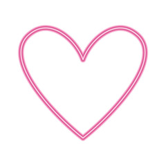 love heart romance passion feeling vector illustration neon pink line image