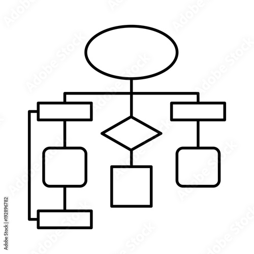 u0026quot diagram flow chart connection empty vector illustration