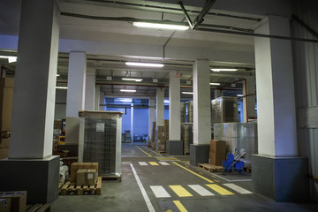Industrial storage hall or warehouse, plant or logistic company