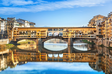 Tuinposter Florence View of Ponte Vecchio. Florence, Italy