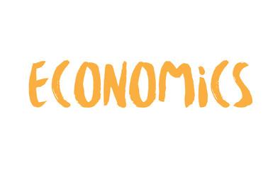 Economics stamp. Typographic label, stamp or logo