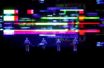 German electronic band Kraftwerk performs in Riga