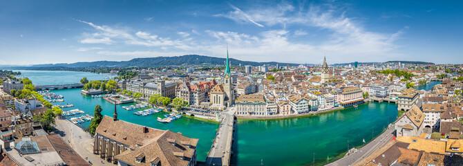 Zürich city panorama in summer, Switzerland