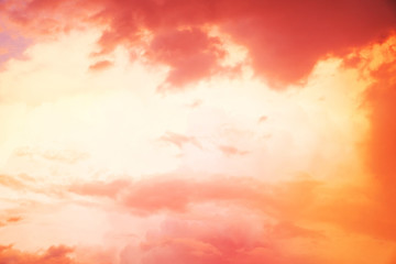 orange and pink sunset background