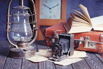 vintage travel still life