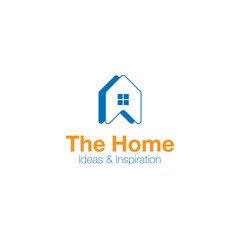 Vector logo home ideas and inspiration. Abstract concept icon for real estate