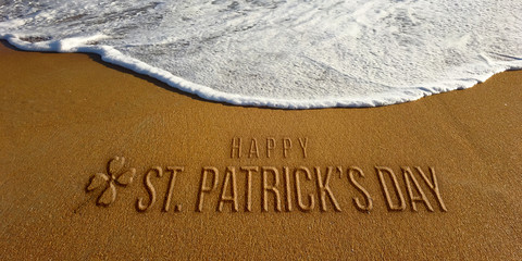 St Patrick Day Celebration in the Beach Photo Image