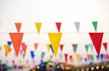 Party time and flags colorful backgrounds outstanding yellow  red and orange.