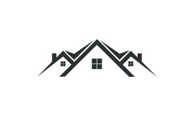 home property logo real estate vector