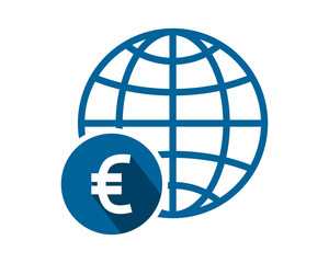 euro globe currency financial money price economy image vector icon logo symbol