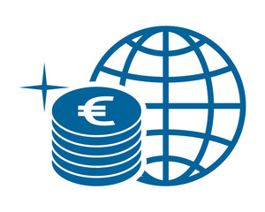 euro coin currency financial money price economy image vector icon logo symbol