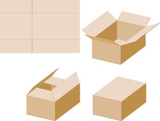 ダンボール箱の組み立て方