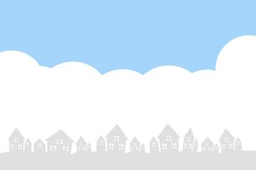 住宅 青空 シルエット