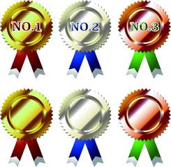 受賞メダルセット