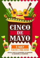 Mexican Cinco de Mayo holiday fiesta party banner