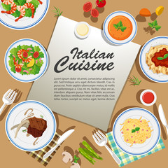 Poster design with various food