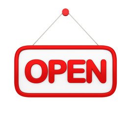 Open Sign Isolated