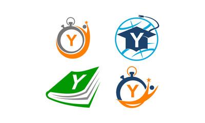 Symbol V Vector Template Set
