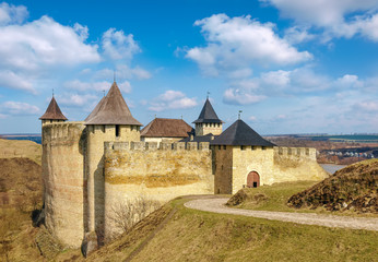General view of Khotyn fortress from the main entrance, Ukraine