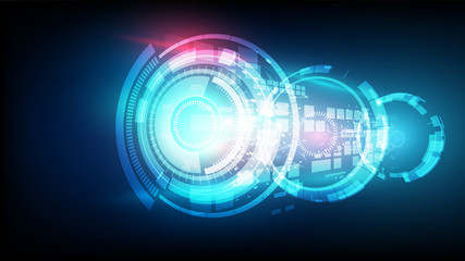 Abstract vector futuristic blue connection high digital technology concept. background illustration