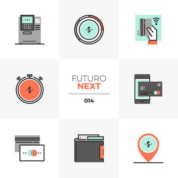 Debit and Credit Futuro Next Icons