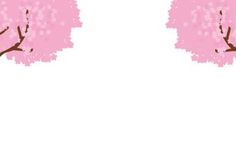 桜のメッセージイラスト素材