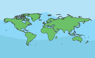 world map cartoon design