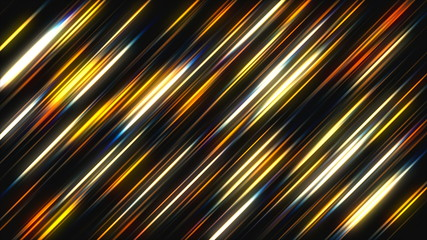 Abstract background with Glowing diagonal lines. 3d rendering digital backdrop.