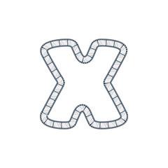 X Film Strip Letter Logo Icon Design