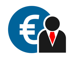 euro figure person human silhouette image vector icon logo symbol