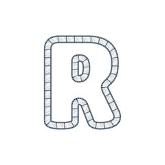 R Film Strip Letter Logo Icon Design