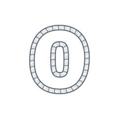 O Film Strip Letter Logo Icon Design