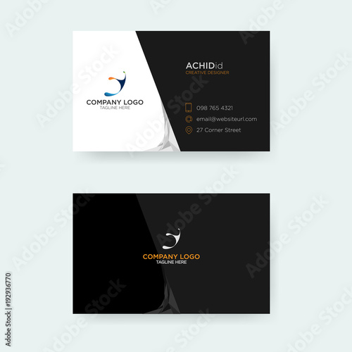 Elegant Business Card Template Stock Image And Royalty Free Vector