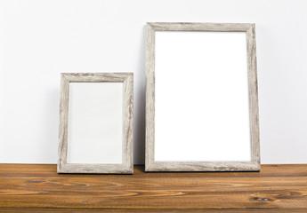 Empty frames mock up for presentation design