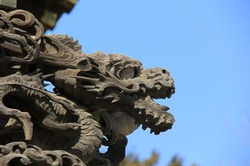 龍の木造彫刻