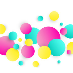 Abstract circles background. Colorful circles on white background