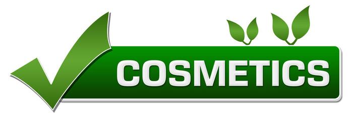 Cosmetics Green Leaves Tick Mark