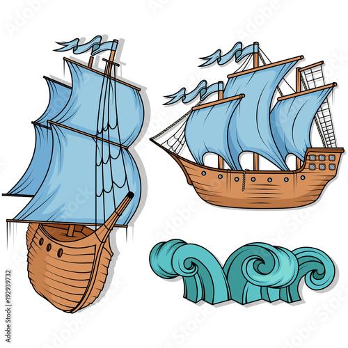 sailing ship retro cargo ship sailing ship sailing boat logo sea