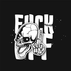 Human white skull vector illustration