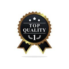 Top quality label ribbon illustration.