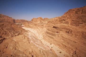 White Canyon in the Sinai desert