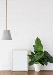 loft design style white background brick pattern