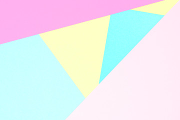 Abstract pastel coloured paper texture minimalism background. Minimal geometric shapes and lines in...