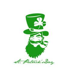 Green st.patrick day vector illustration.